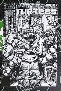 Teenage Mutant Ninja Turtles #4 2011 IDW Eastman BW Sketch 1:10 Variant Cover