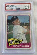 1965 Topps 350 Mickey Mantle PSA 4