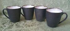 SET OF 4 HTF SANGO CAROUSEL CHARCOAL COFFEE CUP MUGS
