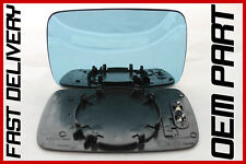 BMW 5 SERIES 530 TOURING/ SEDAN E39 1996-2003 DOOR WING MIRROR GLASS BLUE HEATED