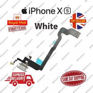 New iPhone XS Charging Port Flex Headphone Jack Mic Replacement White