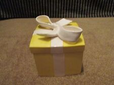 Fitz Floyd large Yellow and white wrapped Gift/Present Box Vintage