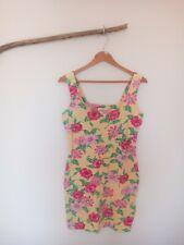 Vintage 90s Moda Int'l Bodycon Floral Dress - Size S
