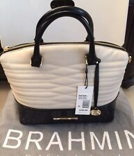 New Beautiful Brahmin Cream/Black Duxbury Satchel Handbag K45845
