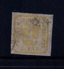 Romania Moldavia Valachia 1862 Bull Head SC# 15a Lemon Used CV:$275