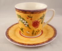 222 Fifth (PTS) TUSCANY ROSE Cup & Saucer Set(s)
