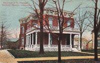 Postcard Residence President Benjamin Harrison IN