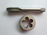 Lots 1pc HSS Machine 9/16-20 UN Plug Tap and 1pc 9/16-20 UN Die Threading Tool