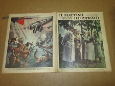 IL MATTINO ILLUSTRATO ANNO XIV° N°40 1937 MUSSOLINI HITLER CONVEGNO DI BERLINO