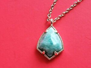 KENDRA SCOTT  Amazonite Green pendant Gold  Chain Necklace Nwot