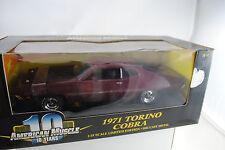 1:18 Ertl - FORD 1971 Torino Cobra Maroon lmtd. EDT. #36383 - Rareza NUEVO /