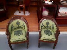 Maison de poupées meubles une paire de Victorian Résine chaises