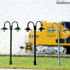 10 x OO / HO gauge Led Street Lights Model Train Lamps Railway Lamp posts #611
