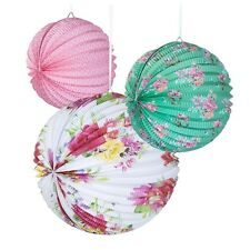 Afternoon Tea Paper Lanterns - Set of 3 - Party and Wedding Decorations