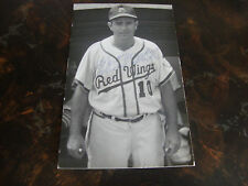 Loren Babe---Autographed Postcard---Rochester Red Wings---Approx. 1958---VHTF