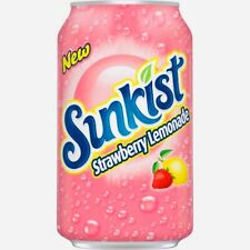 12 PACK, Sunkist Strawberry Lemonade, 12 pack of 12 fl oz cans.   🥤🍓🍋🥤🍓🍋🥤