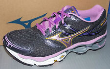WOMENS MIZUNO WAVE CREATION 14 in colors BLACK / PURPLE / MAUVE SIZE 6