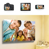 """Your Photo / Image on to Box Canvas Print 20"""" x 16"""" Inches Eco-Friendly Inks"""