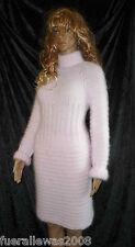 100% Angora Strickkleid handgestrickt long Pullover edel NEU hand knitted 1