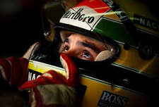 Ayrton Senna LARGE 30x20 Inch Canvas  Framed Picture F1 Formula One