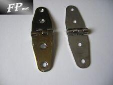 Charnière inox Gond Renversé 100x28mm Epais 2mm ( Lot de 2 )