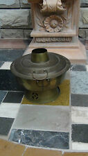 ANTIQUE 19C CHINESE  BRONZE RESTAURANT POT,OVEN,FOOD WARMER,PIPE