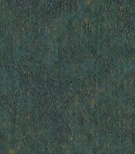 Wallpaper  Drk Green & Gold Texture Vinyl Fabric Backed