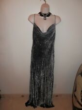 NWT $800 Carmen Marc Valvo GORGEOUS, STUNNING Formal Dress Charcoal Gray Size 10