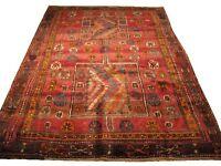 "Authentic  Wool RNR-6090 6' 4"" x 9' 2"" Persian Gabbeh Rug"