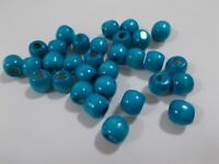 200pcs 12mm Wooden Round Pony Wood Beads TURQUOISE BLUE ( Large hole: 5mm ) A10