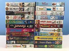 x22 VHS Videos Tapes Bundle Childrens Kids Boys Girls Job Lot Disney Dreamworks