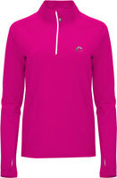 More Mile Vancouver 2 Womens Thermal Running Top Pink Half Zip Long Sleeve Shirt