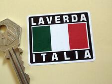 LAVERDA ITALIA Tricolore Style Stickers 50mm Pair Motorcycle Helmet Jota Moto