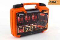 Fox MR+ Carp Fishing Bite Alarm Set - 3 Alarms + Receiver CEi138 *Brand New*