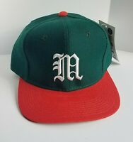 NWT Vintage 1990s NCAA Miami Hurricanes Fitted Wool Baseball Hat 7 1/4 Young An