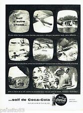 PUBLICITE ADVERTISING 036  1959  Coca-Cola  soda  en  canoé championnats monde