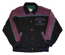 Arizona Jean Co VTG 90s Color Block Spellout Varsity Snap Button Jacket Mens L