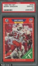 1989 Pro Set Football #494 Barry Sanders Detroit Lions RC Rookie PSA 10 GEM MINT
