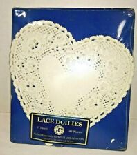 White Heart Lace Paper Doilies 40 count 6 inch William Sonoma