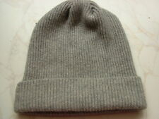 Made in Scotland Beautiful  100% CASHMERE BEANIE HAT  Grey =================