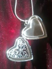 """heart locket 💝 Silver 925 Chain Necklace 16""""- 30""""😘 FREE gift bag 💖"""