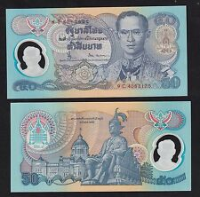 Thailand 50 Baht (1996) P99 Polymer banknotes Sign 66, 50th Reign King Rama Unc