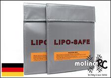 2x Lipo Safe Bag 18x22 cm Li-Po Schutz Charge Pack Lipo Tasche Neu & OVP Feuer