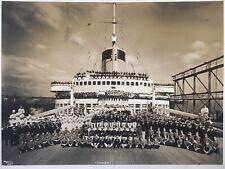 Rare  Photographie BYRON Paquebot SS Normandie  Transatlantique Cgt French Line