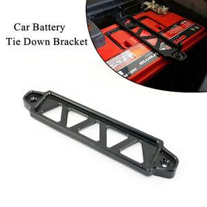 Black Aluminum Car Battery Locking Bracket Clamp Holding  Retainer Accessories