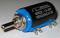 100 kOhm Wirewound 10 Turn 2 Watt Linear Adjustable Panel Mount Resistor 3600 de