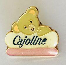 Cajoline Teddy Bear Pillow Design Pin Badge Vintage Advertising (N24)