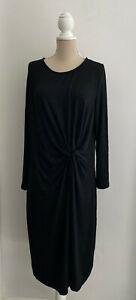 Gap Black Ruched Sweater Dress sz XL
