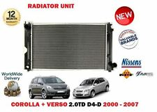 FOR TOYOTA COROLLA + VERSO 2.0TD D4D 2000-> NEW MANUAL CAR RADIATOR UNIT
