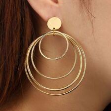 Statement Multi Circles Large Hoop Dangle Drop Earrings Women Fashion Jewelry